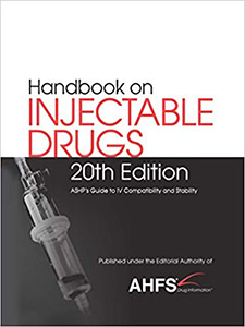 Handbook on Injectable Drugs 20e