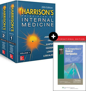 Harrison's Principles of Internal Medicine 20e +Washington Manual of Medical Therapeutics,34e 증정